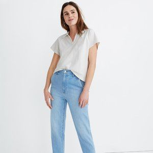 [NWT] Madewell Boxy Polo in White